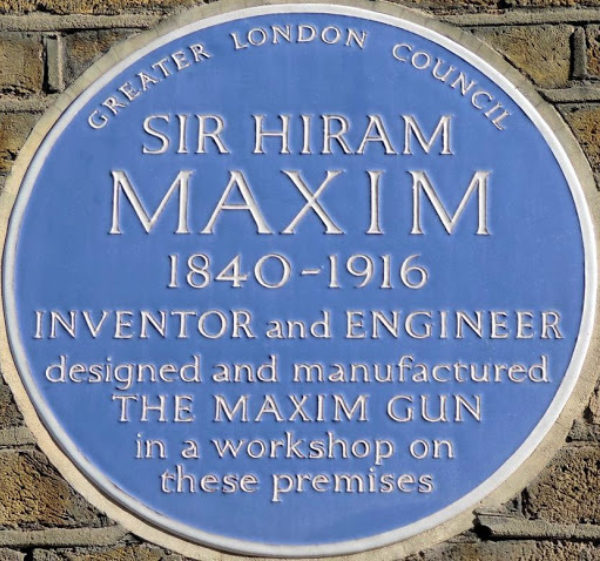 Maxim's Plaque - The Machine Gun,  #1 of 100 Bloody Objects